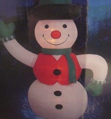 Illuminated Inflatable 8 Foot Snowman W/Top Hat