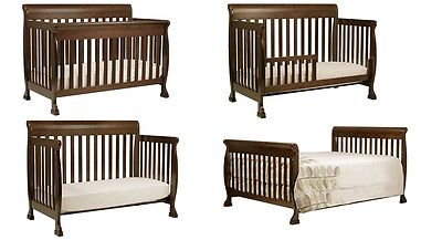 Kids 4-in-1 Convertible Crib, toddler bed, daybed  and full size Bed