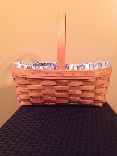 Longaberger 1994 Oval Easter Basket with Protector - EUC