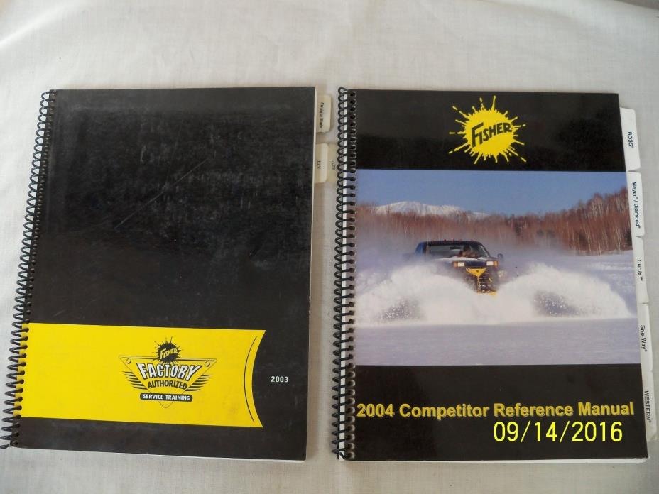 Fisher SnowPlow 2003 Service Training Manual Fisher Competitor Reference Manual