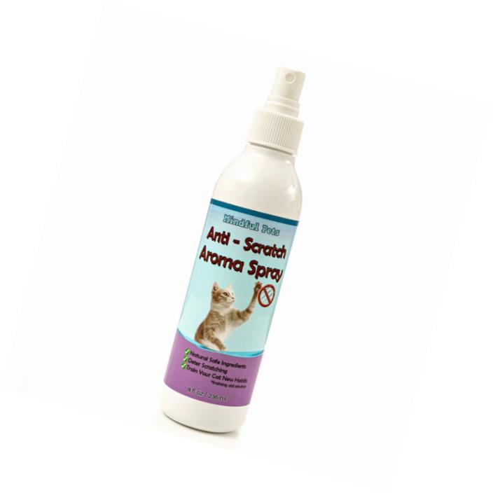 Cat Scratch Deter Spray - Natural Training Solution To Effectively Stop Cats Fro