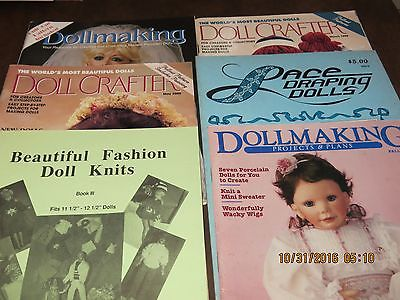 Lot of 6 Doll Magazines Doll Fasions Doll Making Draping Dolls