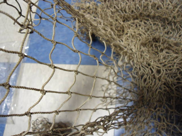 Authentic Used Fishing Net 10'x10' Fish Netting Nautical Decor