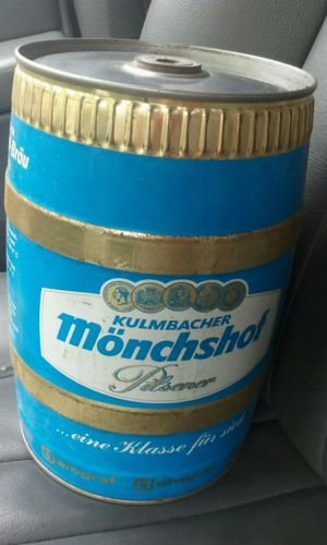 Kulmbacher Monchshof Pilsner Beer Can 5 Liter German Gallon Keg Can