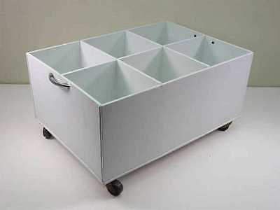Custom Chemical Solvent Container w/Wheels - 6 Slot 9x16x23