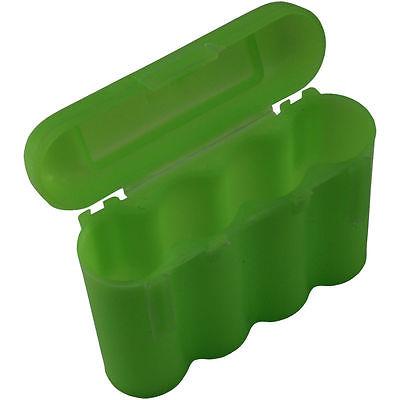 4 GREEN AA AAA BATTERY BATTERY PLASTIC STORAGE CASE HOLDER BOX USA SHIP