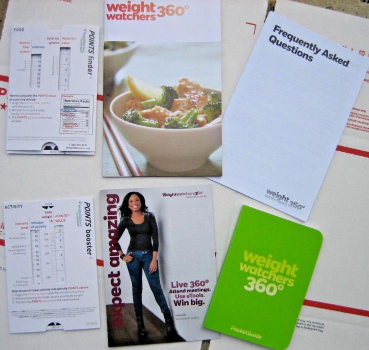 Weight Watchers Points Plus 360 Plan guide,pocket guide,FAQ+ slide Calculator