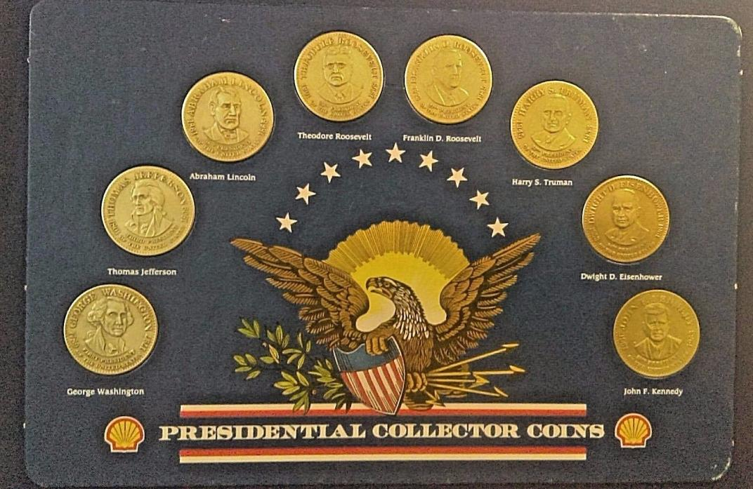 SHELL'S 1992 PRESIDENTIAL PRESIDENT COLLECTOR COINS  Shell Gas Station complete