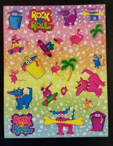 Lisa Frank Rock N' Roll Dogs Sticker Sheet