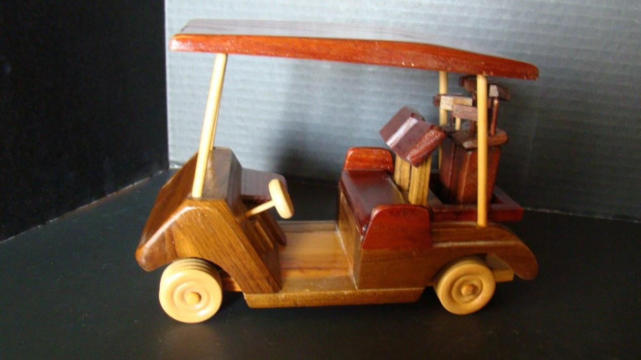 Handmade Wood Golf Cart