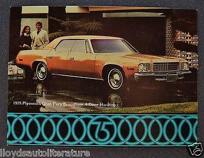 1975 Plymouth Gran Fury Brougham 4-Door Hardtop Postcard Sales Brochure Orig 75