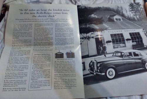 1958 rolls royce silver cloud pamplet