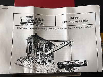 KEYSTONE LOCOMOTIVE WORKS 104 BARNHARDT LOADER KIT  NEW