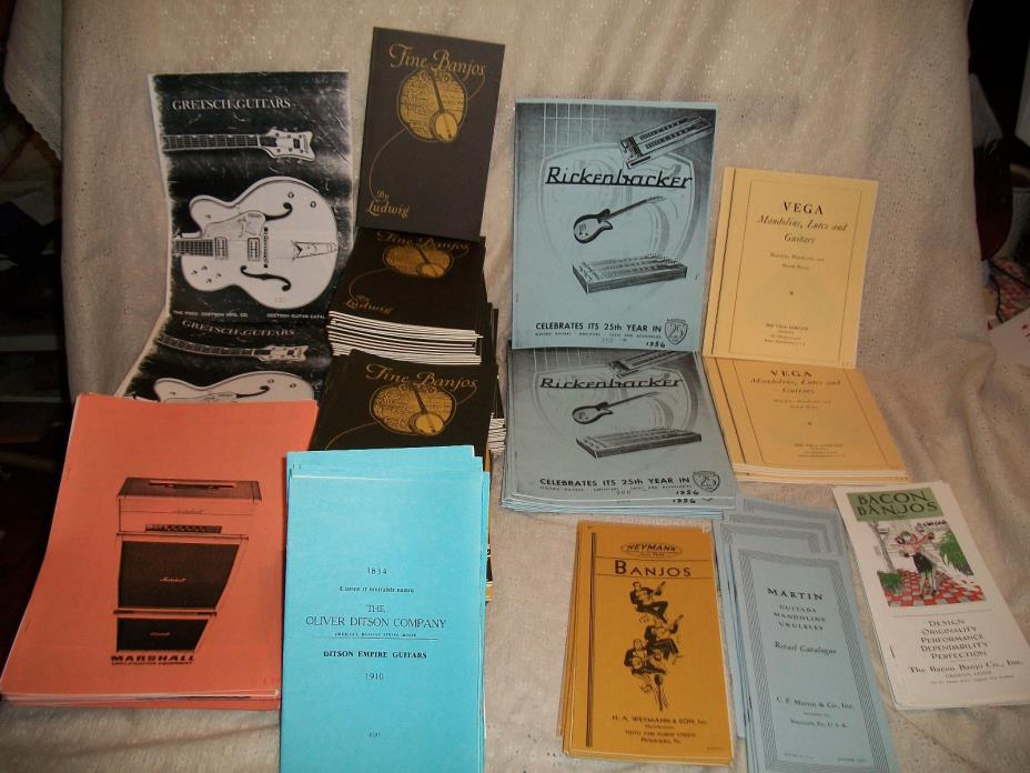390 REPRODUCTION CATALOGES MARTIN FENDER GIBSON GRETSCH MARSALL VEGA AND MORE