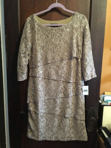 Campaign Gold Women's Dress- ( Mothers Wedding Dress Or Holiday Party.)