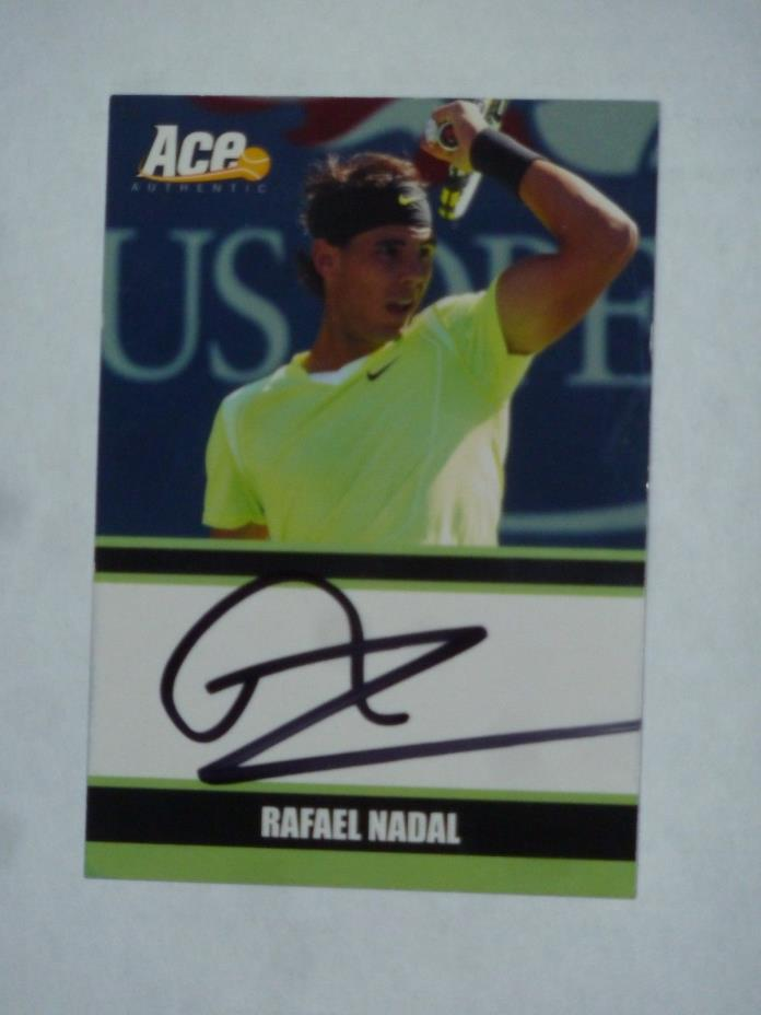 RAFAEL NADAL SIGNED 2011 ACE AUTHENTIC CARD
