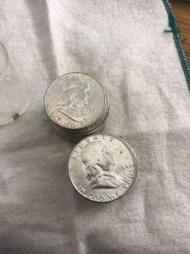 1954 P BU Franklin Half Dollar Roll 20 Silver Coins