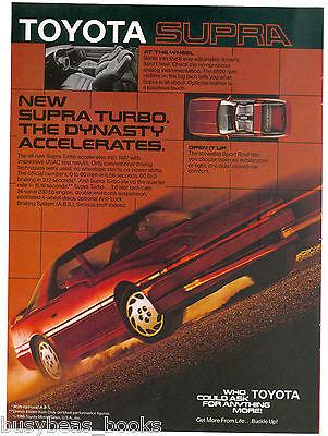 1988 TOYOTA SUPRA advertisement, Toyota Supra Turbo