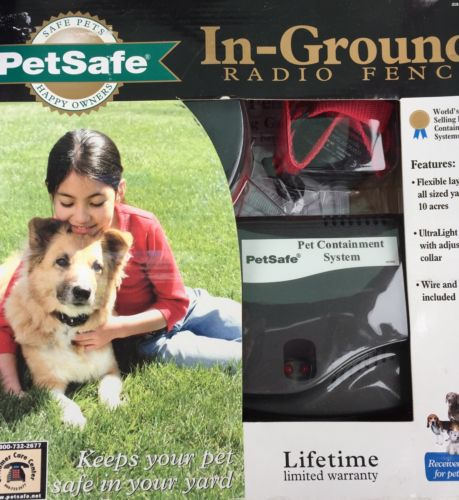 NIB PetSafe Premium In-Ground Radio Fence PRF-3004W/ Dogs Over 8lbs.