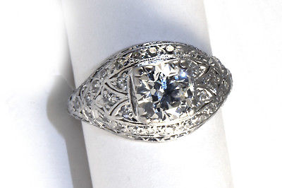 ART DECO..... PLATINUM diamond  RING