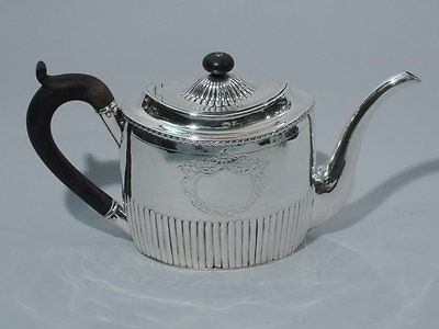 Georgian Teapot  English Sterling Silver  1800