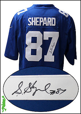 STERLING SHEPARD AUTOGRAPHED SIGNED NEW YORK GIANTS FOOTBALL JERSEY JSA COA