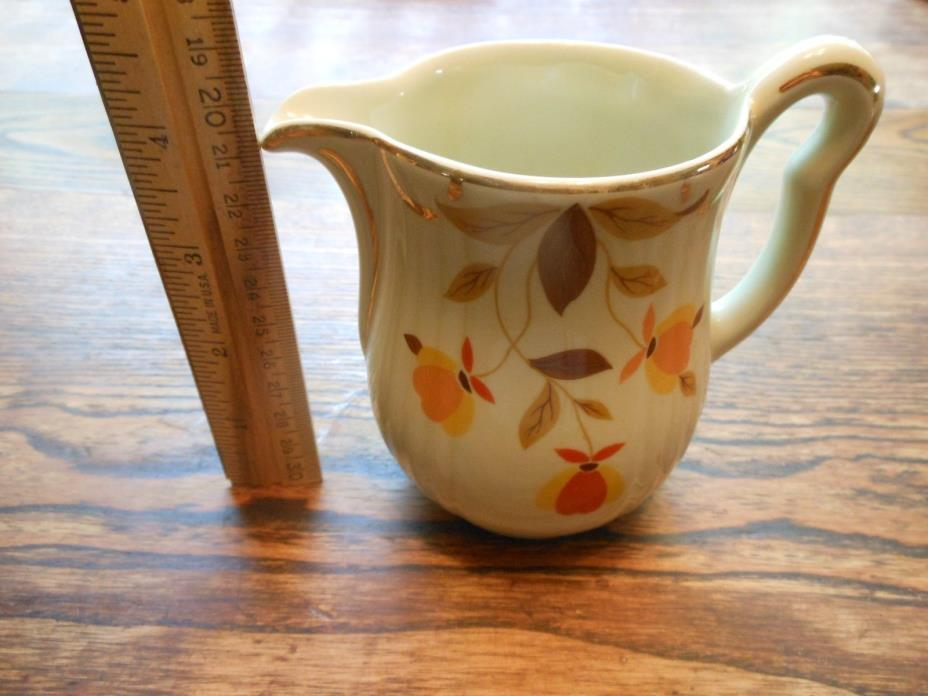 1950s vintage Hall's Superior Kitchenware Autumn Leaf small cream pitcher