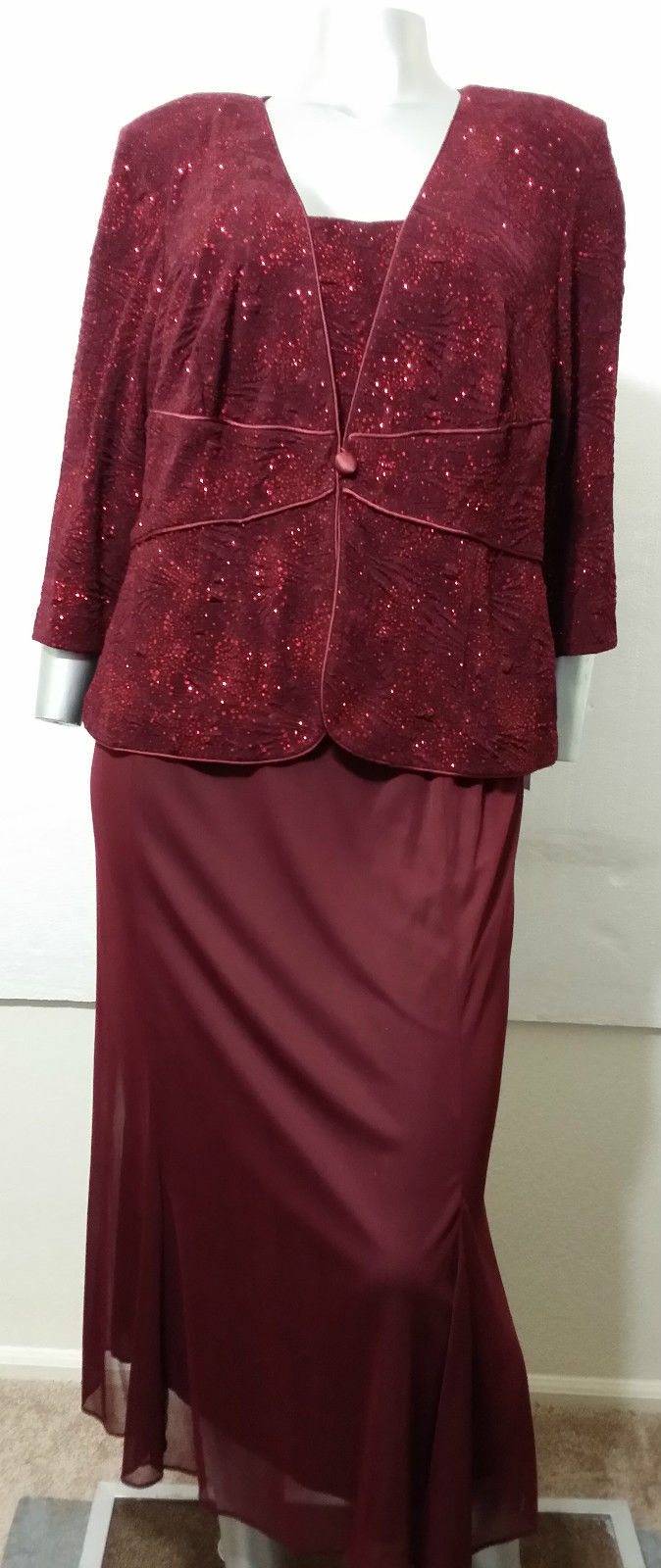 ALEX EVENINGS Dress & Blazer Size 14W   2 pc   FORMAL/OCCASION  Retail $210.00