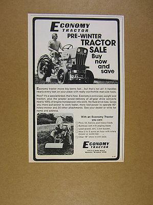1976 Economy Tractor 2x photo vintage print Ad
