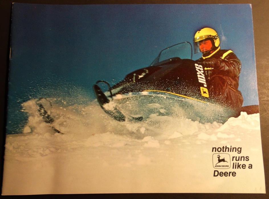 VINTAGE 1973 JOHN DEERE SNOWMOBILE SALES BROCHURE 20 PAGES  (919)