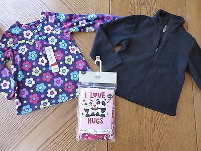 NEW Girls size 4t Winter Clothing Lot Pull-Over fleece Top PJ Pajamas NWT