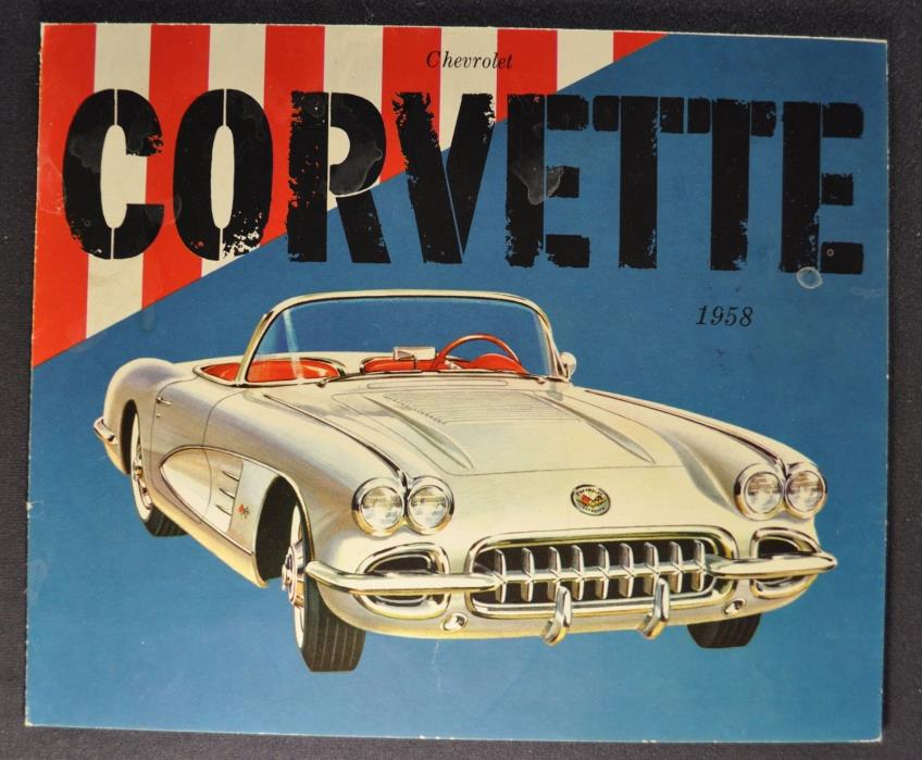 1958 Chevrolet Corvette Brochure Folder Excellent Original 58 Not A Reprint