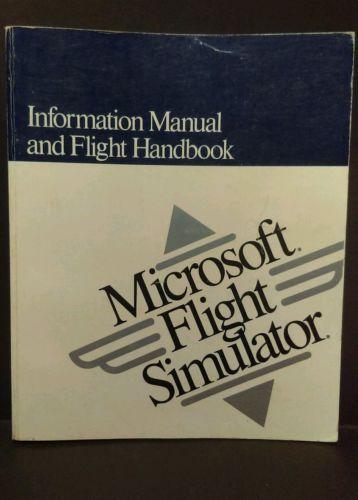 1989 Microsoft Flight Simulator Manual Handbook AirCraft IBM