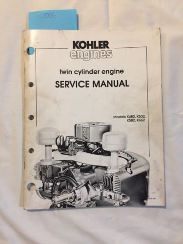 Kohler K482 K532 K582 K662 Shop Power Engines Twin Cylinder Service Manual