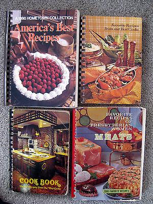 4 Vntage Cookbooks America's Best Favorite Recipes best Cooks