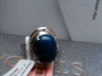 Lapis Lazuli Ring Stainless Steel Clearance