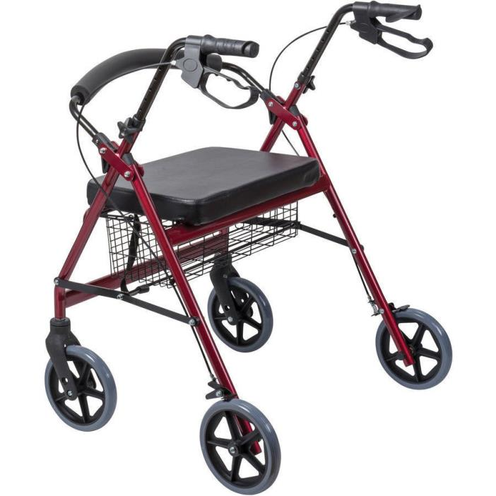 Wide Heavy Duty Steel Health Equipment Safety Stability Style Mobility Walker