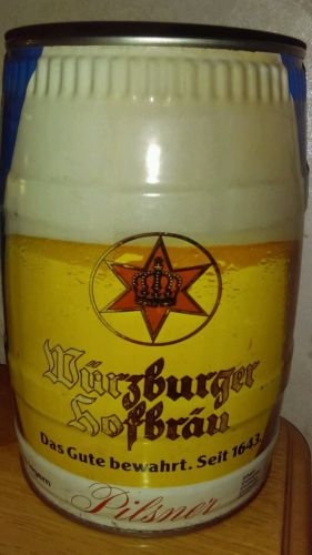 Wurzburger Hofbrau Beer Can 5 Liter 5 L Gallon Beer Can Bottom Opened