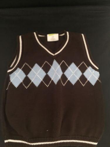 Crazy 8 boys sweater vest size 3T boys 100% cotton