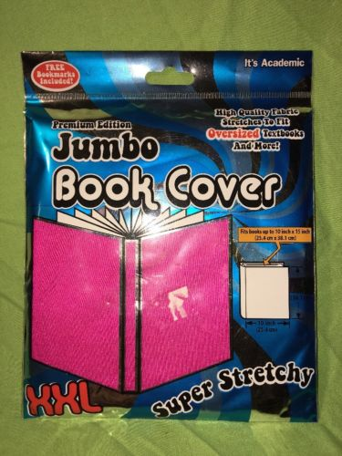 Jumbo Book Cover XXL Super Stretchy Pink Premier Edition Free Bookmark Included