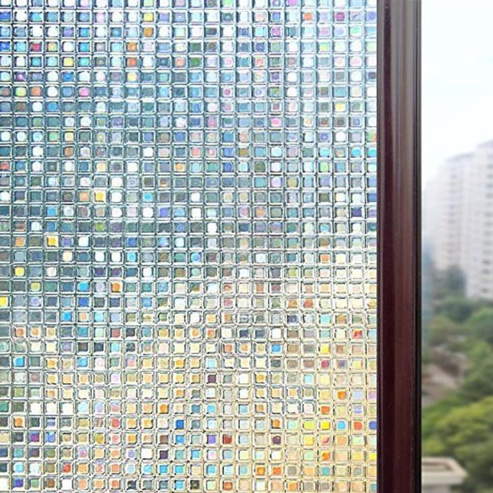 Rabbitgoo 3D Window Films Privacy Film Static Decorative Film Non-Adhesive Heat