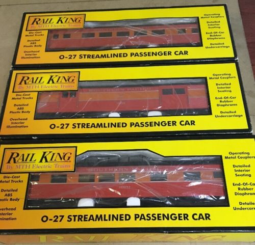 rail king trains Lot of 3, Southern Pacific Streamlined Passenger others in desc