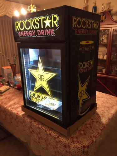 NEW ROCKSTAR ENERGY DRINK GCG-6c COUNTERTOP FRIDGE COOLER Redbull Monster