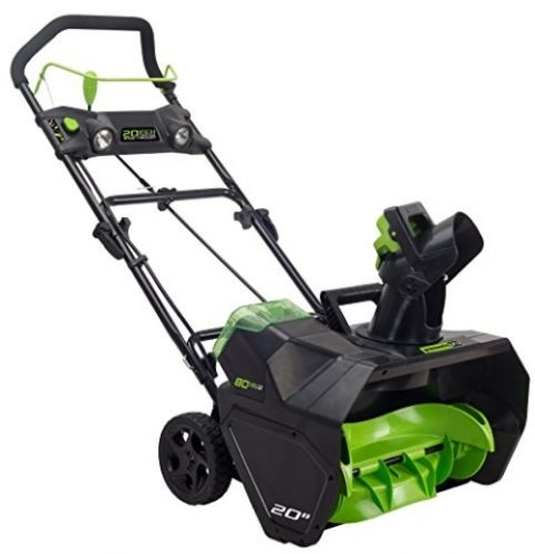 GreenWorks Pro Cordless Snow Thrower Powerful 20-Inch Battery Not Included