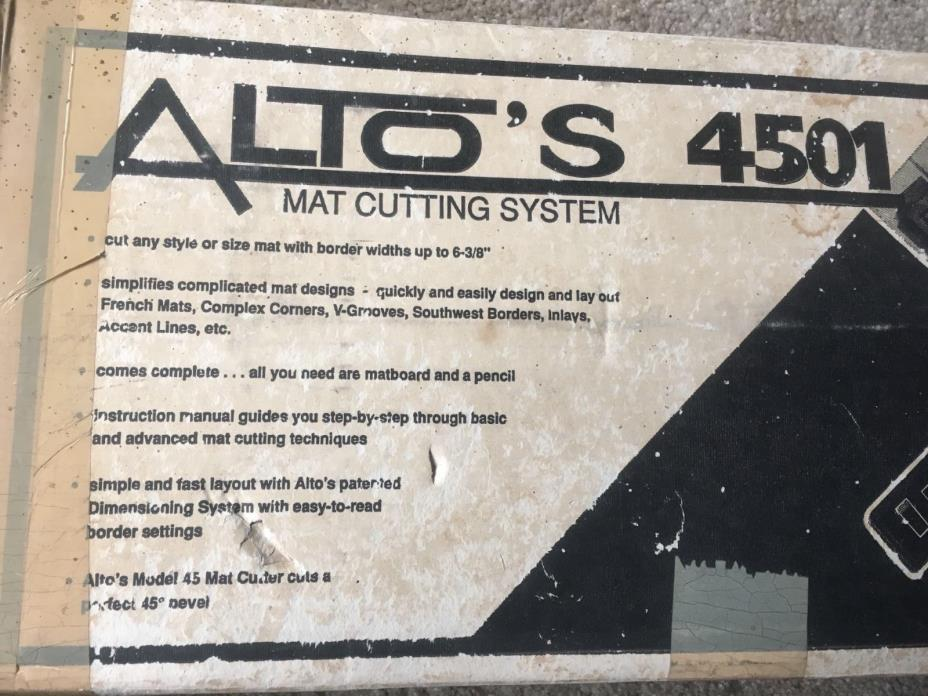 Alto 4501 Mat Cutting System - Used