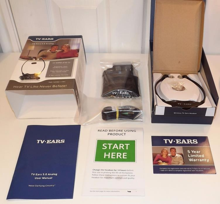 TV Ears 11641 Version 5.0 Analog Wireless Voice Clarifying TV Headset