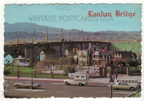 Truck & Camper at London Bridge Lake Havasu City ARIZONA Postcard