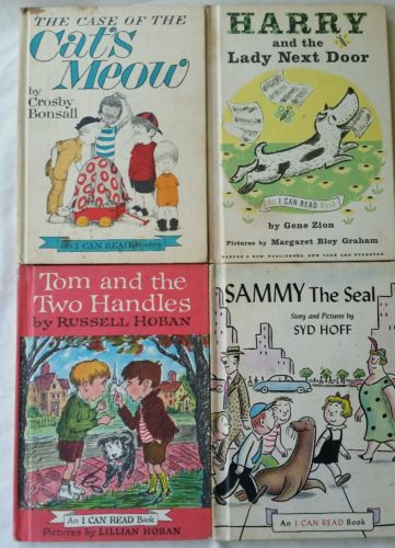 Lot of 4 Vintage I Can Read Books 1960s