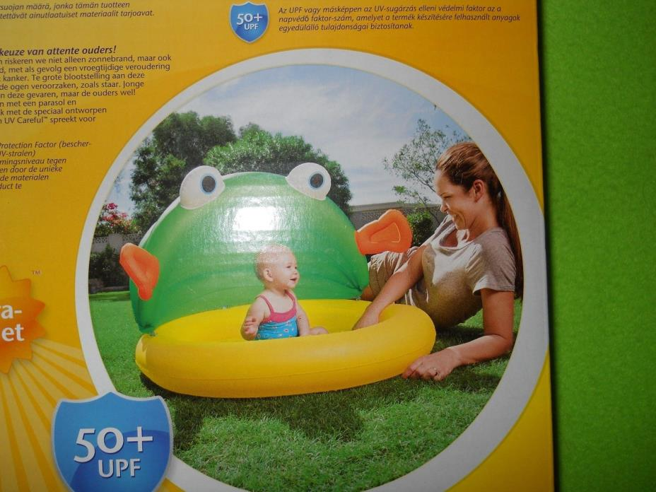 NEW ~ Bestway And Swimming Play With Sunshade ~ Fish & Me Baby Paddling Pool