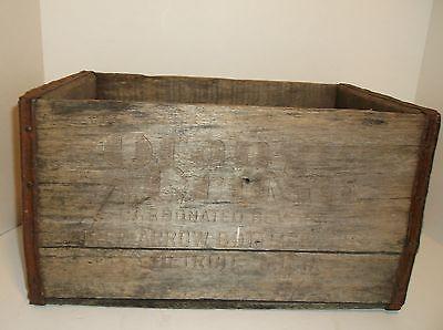 Antique Orange Crush Soda Wooden Crate